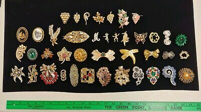 $ CDN41.74 • Buy Lot Of 41x Antique & Vintage Brooch Pins Fashion / Costume Jewelry - Unmarked