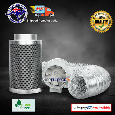 AU219 • Buy Greenfingers 6  Hydroponics Grow Tent Kit Ventilation Kit Fan Carbon Filter Duct