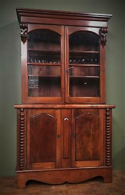 AU2200 • Buy Antique Australian Colonial Cedar Bookcase Circa 1850 Crafted Entirely In Cedar