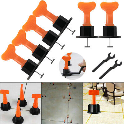 AU44.59 • Buy 50-200pcs Floor Wall Tile Leveling System Leveler Construction Reusable Tools