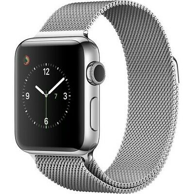 $ CDN80.86 • Buy Apple Watch Series 1 38mm Stainless Steel Case Silver Milanese Loop -...