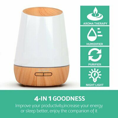 AU28.98 • Buy Purifier 500ml Aromatherapy Aroma Atomizer Essential Oil Air Humidifier Diffuser