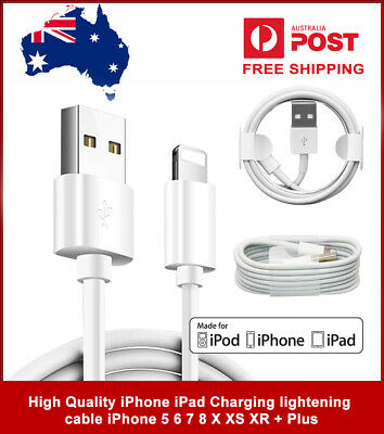 AU5.34 • Buy High Quality IPhone IPad Charging Lightening Cable IPhone 5 6 7 8 X XS XR + Plus
