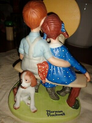 $ CDN26.31 • Buy  Young Love  From The Norman Rockwell Porcelain Figurines Danbury Mint VTG 1980