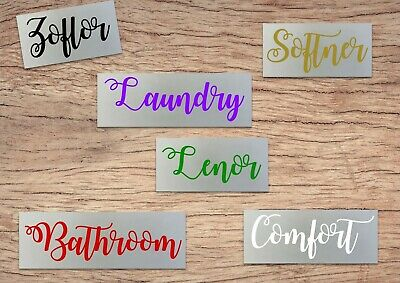 Mrs Hinch Zoflora Lenor Comfort Softener Spray Bottle Tray Vinyl Decal Stickers • 1.47£