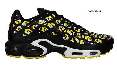 $79.99 • Buy Nike Men's  Air Max Plus QS  Black Yellow Training Shoes Multiple Size NIB
