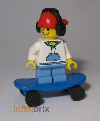 Lego Skateboard Kid Minifigure CUSTOM With Headphones + Cap, Skater Boy Cus010 • 6.75£
