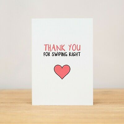 AU6.10 • Buy Greeting Card - Love, Valentine's Day, Anniversary, Funny, Swiping Right V2