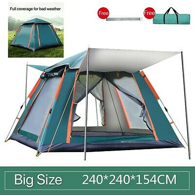AU134.10 • Buy AU Automatic Instant Pop Up Camping Tent 4Person UV Shade Family Hiking Fishing