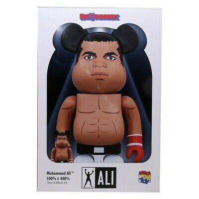 $165 • Buy Medicom BE@RBRICK Muhammad Ali 100% 400% Bearbrick Figure Set