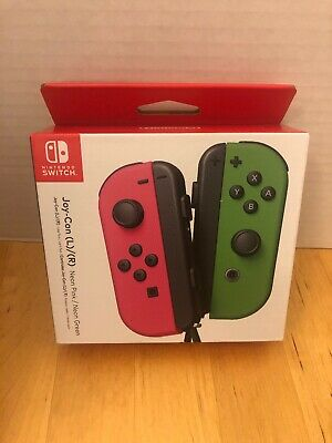 $67.99 • Buy Nintendo Switch Joy-Con L/R Controller (Neon Pink/Neon Green) NEW