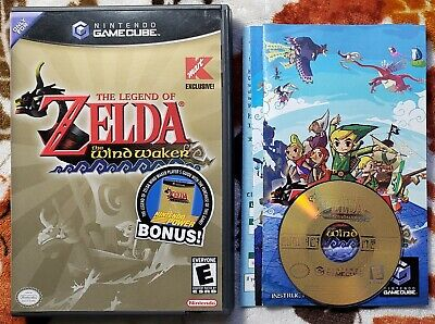 $44.98 • Buy Legend Of Zelda The Wind Waker GameCube Kmart COMPLETE Game Case Manual Inserts!