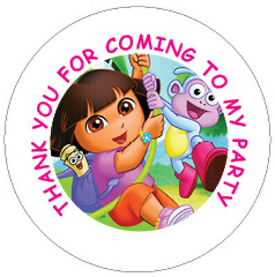Dora Birthday Party Sticker, Thank You, Sweet Cone Labels 12,15 Or 35 • 2.20£
