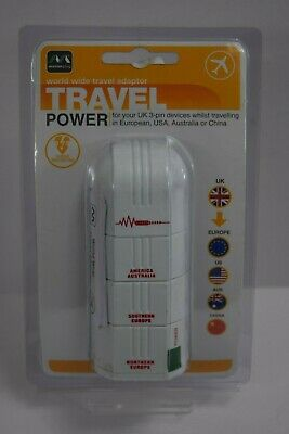 AU17.77 • Buy Masterplug Surge Worldwide Travel Adaptor UK To Europe USA Australia China NEW