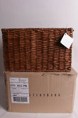 $19.95 • Buy NWT Pottery Barn Seagrass Square Storage Basket Bin 14.5  X 14.5  X 9