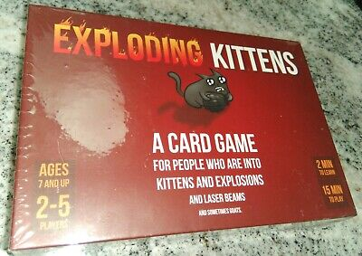 AU17.44 • Buy Exploding Kittens Card Game NEW & Factory Sealed