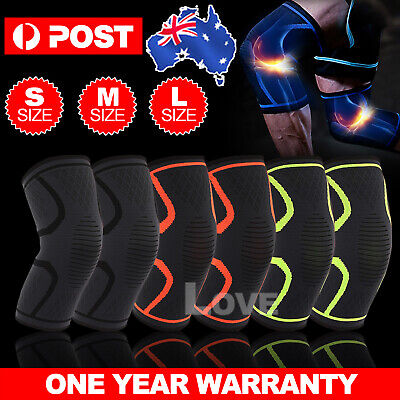 AU13.95 • Buy Knee Support Brace Compression Sleeve Arthritis Pain Relief Running Gym Sports