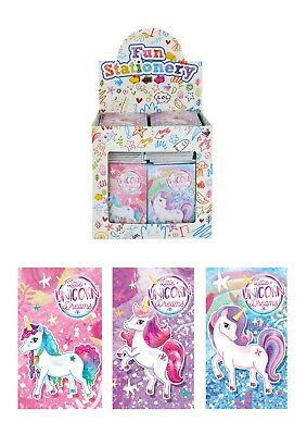 Unicorn Notepads Notebooks Girls Kids Childrens Party Loot Bag Fillers Favours  • 2.29£