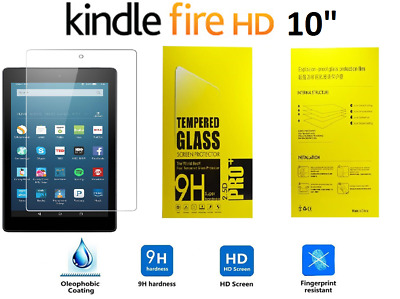 £3.89 • Buy 100% Genuine Tempered Glass Screen Protector For AMAZON KINDLE FIRE HD 10.1