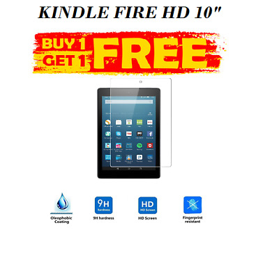 £4.49 • Buy 2Pc BUY 1 GET 2 Tempered Glass Screen Protector For AMAZON KINDLE FIRE HD 10.1