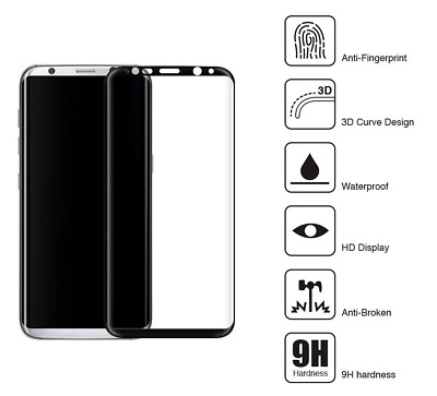 $ CDN3.27 • Buy 100% Genuine Tempered Glass Curved Film Screen Protector Samsung Galaxy S8 Black