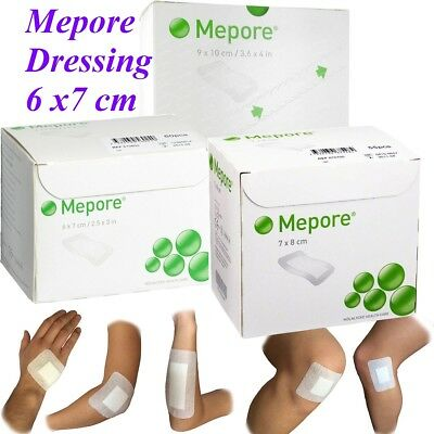 £2.89 • Buy Mepore Self Adhesive First Aid Dressings For Skin Cuts Burns Wounds - 6 X 7cm
