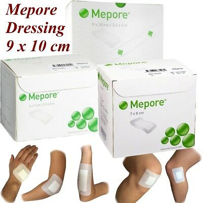 £7.99 • Buy Mepore Self Adhesive Dressings Cuts Burns Wounds First Aid Dressings - 9 X 10cm