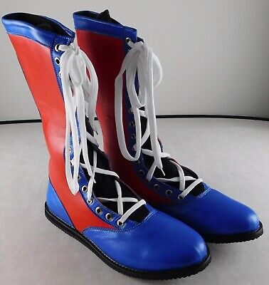 $149.99 • Buy Red Blue Pro Wrestling Boots Size 13 Adult NEW Lucha Lucha Gear WWE New AEW