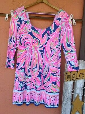 $43.25 • Buy NWOT Lilly Pulitzer MULTICOLORED 3/4 Sleeve Dress Sz Large