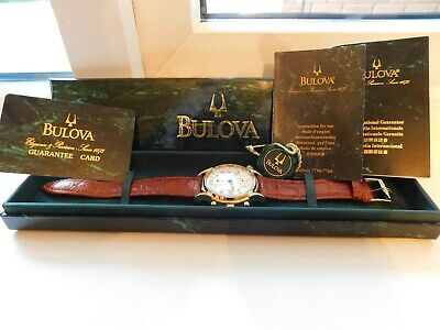 View Details 18ct Gold Plated Bulova Chronograph Automatic Men's Watch Mov-valjoux 7750 • 695.00£