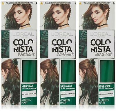 3X L'Oreal Colorista Washout Semi-Permanent Hair Dye 80ml - Choose Your Shade • 11.99£