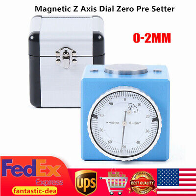 $68.01 • Buy Magnetic Z Axis Dial Zero Pre Setter Tool Gage Offset For CNC Machine Centers US