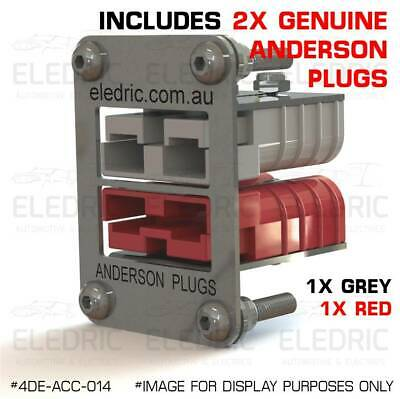 AU46.90 • Buy Anderson Plug Double Flush Mount Kit Plate Recessed Bracket 4X4 SB50 - 014 RED
