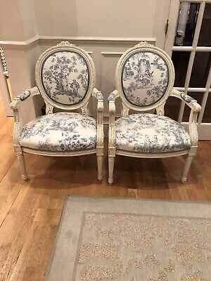 £500 • Buy Stunning Pair French Louis Xvi Style Chabby Chic Armchairs
