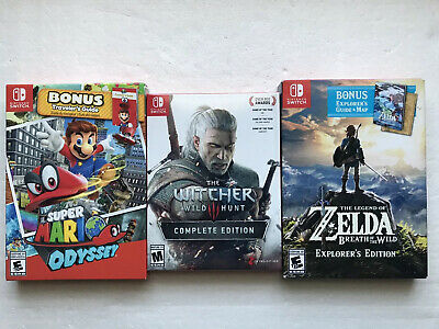 """$200 • Buy Lot Of (3)  Nintendo Switch Games"""" Brand New!!  Free Shipping!!"""