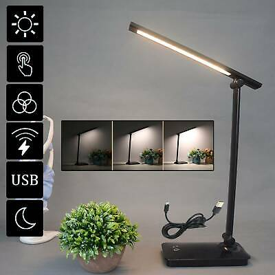 AU14.09 • Buy AU Touch LED Desk Lamp Bedside Study Reading Table Light USB Ports Dimmable