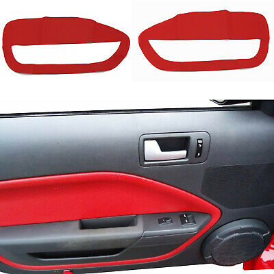 $28.40 • Buy 2pcs RED Leather Door Panel Insert Cards Cover Fit For Ford Mustang 2005-2009