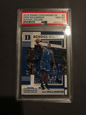 $34.99 • Buy 2019 Panini Contenders DP Zion WIlliamson Rookie School Colors PSA 10 RC