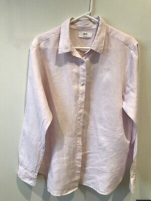 AU13.50 • Buy Uniqlo Pink Linen Ladies Blouse (L)