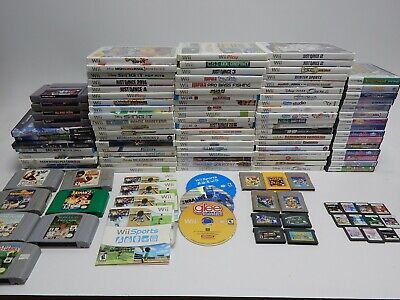 $ CDN200 • Buy Nintendo Wii, GameCube, 3DS, DS, GBA, N64, GB, SNES Game Lot 100+ Games