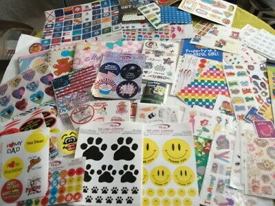 $99.99 • Buy HUGE Lot Medium Flat Rate Box Of Over 3000 Scrapbook Stickers Collectibles