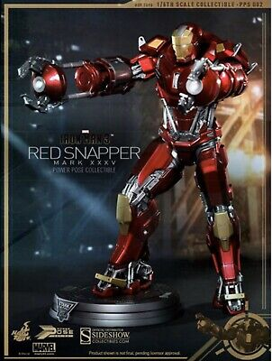 $100 • Buy Marvel 1/6 Scale Iron Man Mark XXXV (35) Red Snapper Figure Hot Toys