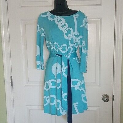 $20.50 • Buy Lilly Pulitzer Link Print Dress Aqua Size Small