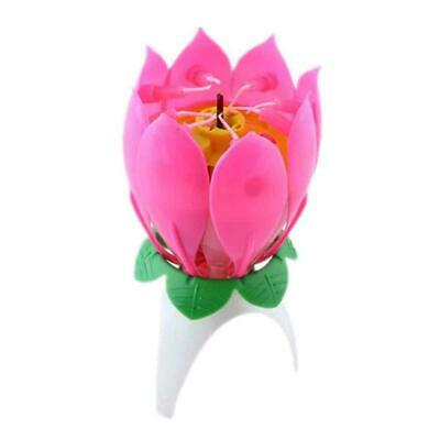$ CDN1.58 • Buy 1pc Lotus Flower Candle Musical Blossom Candles Happy Party Birthday Gift J4T0