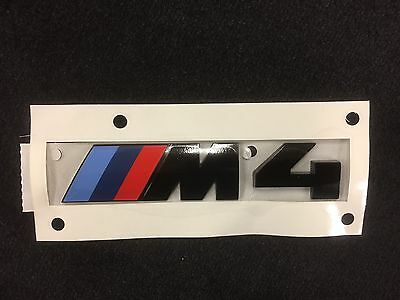 $28.55 • Buy BMW M4 Rear Emblem In Black Authentic OEM 51148068579 Competition Package Logo