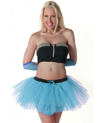 New And Best Latest Womens 3 Layers Turquoise TuTu Skirt For Parties • 9.99£