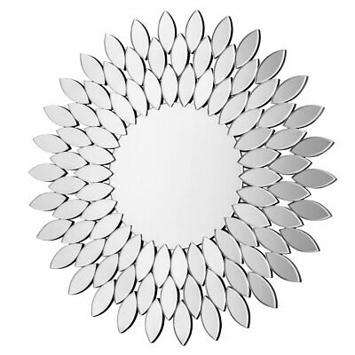 Sylvana Wall Mirror Sunburst Bevelled Edge Round Home Décor Contemporary Style • 268.99£