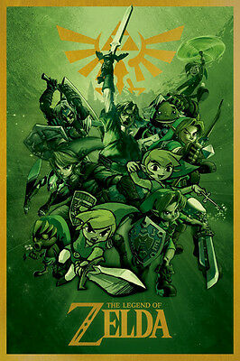 $11.99 • Buy Zelda -links 24x36 Poster Wall Art Gaming Video Game Nintendo Playstation Tech!!
