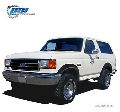 AU317.56 • Buy Paintable Extension Fender Flares Fits Ford F-150 F-250 F-350 Bronco 1987-1991