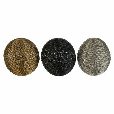 Hege Decorative Spheres Set Of 3 Home Decoration Glittering Metal • 29.99£